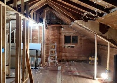 Before: upstairs demo/open attic